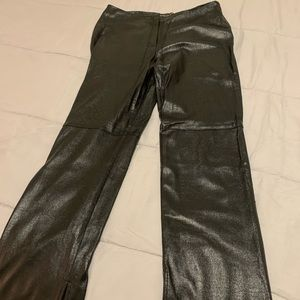 Faux false leather leggings